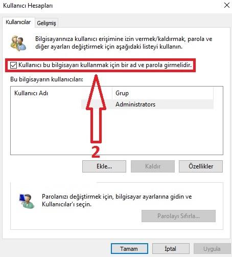 windows 10 parola kaldırma-2